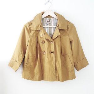 Forever 21 - Mustard Yellow Short Hooded Coat